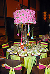 One of the colorfully decorated tables at the Memorial Hermann Gala at the Hilton Americas Houston Saturday May 09,2009.(Dave Rossman/For the Chronicle)