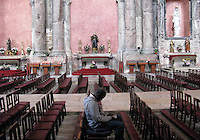 A african immigrants stand at São José church  in Lisboan,Portugal 31 Octobre 2009