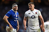 Guilhem Guirado of France  and Owen Farrell of England. Guinness Six Nations match between England and France on February 10, 2019 at Twickenham Stadium in London, England. Photo by: Patrick Khachfe / Onside Images