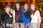 Pictured at Kerry Fashion Weekend Fashion Show on Friday night in the Carlton hotel, Tralee were l-r: Anne Griffin (Killorglin) Tina Griffin (Killorglin) Marguerite Trant (Curraheen) and Courtney Griffin (Killorglin)..
