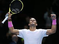 Rafael Nadal  (ESP)  <br /> London 14/11/2019 O2 Arena <br /> Tennis Nitto ATP Finals 2019 <br /> Photo Melanie Jeusette / Panoramic/ Insidefoto