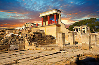 Arthur Evans reconstruction of  the Nouth Propylaeum Knossos Minoan archaeological site, Crete