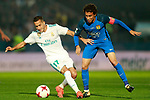 CF Fuenlabrada's Milla (r) and Real Madrid's Lucas Vazquez during Spanish Kings Cup 1/16 Final 1st leg match. October 26,2017. (ALTERPHOTOS/Acero)