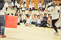 The Harker School - LS - Lower School - Spirit Assembly for LS students including info about upcoming Harvest Festival (picnic) games & activities - Photo by Kyle Cavallaro