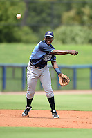 Tampa Bay Rays third baseman Juan Carlos Arias (91) during an Instructional League game against the Minnesota Twins on September 16, 2014 at Charlotte Sports Park in Port Charlotte, Florida.  (Mike Janes/Four Seam Images)