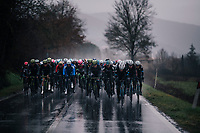 Wout Van Aert's (BEL/Veranda's Willems-Crelan) teammates pushing towards the first gravel sector<br /> <br /> 12th Strade Bianche 2018<br /> Siena &gt; Siena: 184km (ITALY)