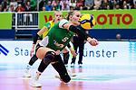 05.10.2019, Halle Berg Fidel, Muenster<br />Volleyball, Bundesliga Frauen, Normalrunde, USC MŸnster / Muenster vs. Allianz MTV Stuttgart<br /><br />Annahme Lina Alsmeier (#8 Muenster)<br /><br />  Foto © nordphoto / Kurth