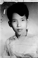 Comrade Duch pictured as a boy of about 17. The photograph was found in his family home in Kompong Thom. Duch (real name Kaing Guek Eav) was chief executioner of the Khmer Rouge, responsible for the S-21 detention centre at Tuol Sleng, where over 16,000 people were killed between 1975 and 1979. Photographer Nic Dunlop unearthed Duch working with the American Refugee Committee in 1999. He is currently awaiting trial.