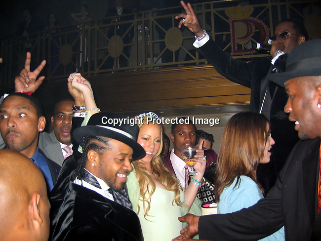 Mariah Carey, Jermaine Dupri &amp; Sean P. Diddy Combs<br />Sean P. Diddy Combs Celebrates his 35th birthday by giving himself a Royal Birthday Ball<br />Cipriani Wall Street<br />New York, NY, USA<br />Thursday, November 04, 2004<br />Photo By Celebrityvibe.com/Photovibe.com, New York, USA, Phone 212 410 5354, email:sales@celebrityvibe.com
