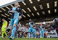 Jason McCarthy (22) of Wycombe Wanderers heads onto the pitch with teammates during the Sky Bet League 2 match between Notts County and Wycombe Wanderers at Meadow Lane, Nottingham, England on 28 March 2016. Photo by Andy Rowland.