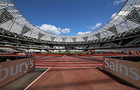 General view of Queen Elizabeth Olympic Park during the Sainsbury's Anniversary Games, Athletics event at the Olympic Park, London, England on 25 July 2015. Photo by Andy Rowland.