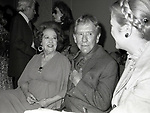 Ethel Merman, Burgess Meredith and Princess Grace Kelly attend the Theatre Hall Of Fame Awards held on March 28, 1982 at the Uris Theater, now called the Gershwin Theater, New York City.