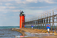 64795-02609 South Haven Lighthouse early morning South Haven,  MI