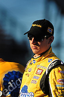 Nov. 7, 2008; Avondale, AZ, USA; NASCAR Sprint Cup Series driver Kyle Busch during qualifying for the Checker Auto Parts 500 at Phoenix International Raceway. Mandatory Credit: Mark J. Rebilas-