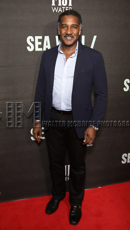"Norm Lewis attends the Broadway Opening Night performance of ""Sea Wall / A Life"" at the Hudson Theatre on August 08, 2019 in New York City."