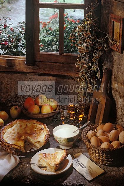 """Europe/France/Auvergne/15/Cantal/Paulhac: Dessert - Vieille recette à base de pommes et de feuillage - Remise au point par François Rongier du """"Relais des Gourmets"""""""