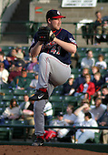 July 12, 2003:  Pitcher Steve Woodard of the Pawtucket Red Sox, Class-AAA affiliate of the Boston Red Sox, during a International League game at Frontier Field in Rochester, NY.  Photo by:  Mike Janes/Four Seam Images