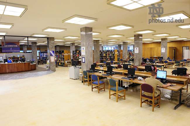 Hesburgh Library interior - 1st floor