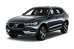 2018 Volvo XC60 Inscription 5 Door SUV angular front stock photos of front three quarter view