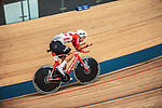 European Time Trial Champion Victor Campenaerts (BEL) is the new UCI Hour Record holder after covering 55,089 km, beating Bradley Wiggins record by 563 metres. Aguascalientes, Mexico. 16th April 2019.<br /> Picture: Ridley Bikes | Cyclefile<br /> <br /> All photos usage must carry mandatory copyright credit (© Cyclefile | Ridley Bikes)