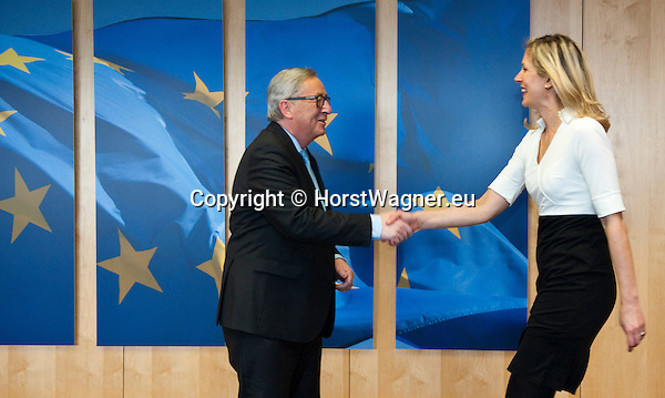 Belgium, Brussels - March 10, 2016 -- Jean-Claude JUNCKER (le), President of the European Commission, receives Silvana KOCH-MEHRIN (ri), Founder and Chairperson of WIP (Women in Parliaments Global Forum), former liberal MEP and Vice-President of the EP -- Photo © HorstWagner.eu