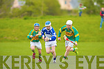 St Brendan's Gearo?id Sheehan and Lixnaw's l-r: Tom Foley and Tadhg Brosnan.