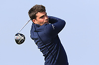 Alexandre Decorde (Bordeaux Lac) on the 1st tee during Round 3 of The West of Ireland Open Championship in Co. Sligo Golf Club, Rosses Point, Sligo on Saturday 6th April 2019.<br /> Picture:  Thos Caffrey / www.golffile.ie