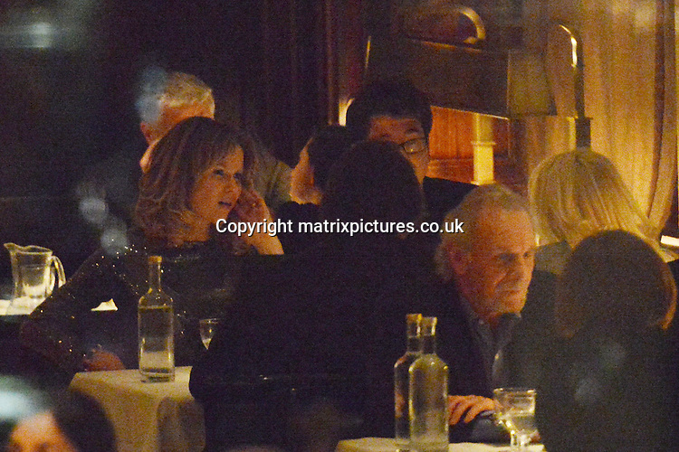 "NON EXCLUSIVE PICTURE: MATRIXPICTURES.CO.UK.PLEASE CREDIT ALL USES..WORLD RIGHTS..""Britain's Got Talent"" judge Amanda Holden is pictured dining with English stand-up comedian Michael McIntyre and their respective partners, at London's Delaunay restaurant. ..The group arrive at 8pm and depart at 10.30pm.  .APRIL 9th 2013..REF: ASI 132364"