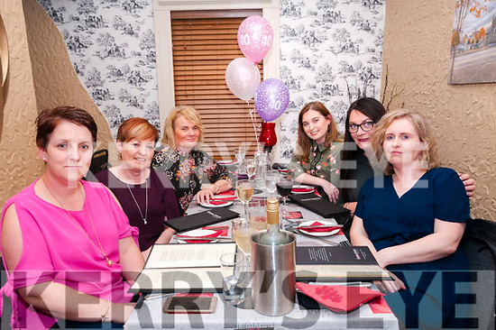 40th Birthday : Sharon O'Connor, right, Listowel celebrating her 40th birthday with friends at Eabha Joan's Restaurant, Listowel on Saturday night last. L-R: Mags Scanlon, Brenda Heffernan, Hannah Hanrahan, Nora Laide, Gabby McGrath & Sharon O'Connor.