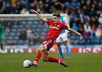 8th February 2020; Ewood Park, Blackburn, Lancashire, England; English Football League Championship Football, Tom Cairney of Fulham stretches to play the ball in midfield