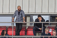 Leyton Orient Omer Riza takes charge as Manager for the first time (Orient's 5th of the Season) watches the second half from the directors boxes during the Sky Bet League 2 match between Leyton Orient and Wycombe Wanderers at the Matchroom Stadium, London, England on 1 April 2017. Photo by Andy Rowland.