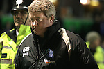 Birmingham City 0 Liverpool 7, 21/03/2006. St Andrews, FA Cup 6th Round. Birmingham City (blue) versus Liverpool,  The home side lost 0-7. Picture shows a tense City manager Steve Bruce making is way towards the tunnel at the end of the match. Photo by Colin McPherson.