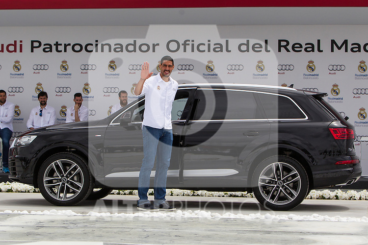 Gustavo Ayon during the Audi Car delivery, at the basketball players of the Real Madrid. May 25,2016. (ALTERPHOTOS/Rodrigo Jimenez)