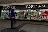 Pictured: A general view of Topshop/Topman in Swansea City Centre during the Covid-19 Coronavirus pandemic in Wales, UK, Swansea, Wales, UK. Monday 23 March 2020