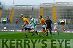 Diarmaid Herlihy, Na Gaeil in action against Peadar McCoy, Rathgarogue-Cushingstown during the AIB GAA Football All-Ireland Junior Club Championship Final match between Na Gaeil and Rathgarogue-Cushinstown at Croke Park on Saturday.