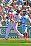 10 June 2012: Boston Red Sox infielder Nick Punto in action against the Washington Nationals at Fenway Park in Boston, MA. The Nationals defeated the Red Sox 4-3 to sweep their 3-game interleague series. Mandatory Credit: Ed Wolfstein Photo