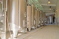 Fermentation tanks. Chateau Sansonnet, Saint Emilion, Bordeaux, France