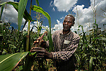 Mylos Landan Jackson, a member of the United Methodist Church in Madisi, Malawi, works in a church-sponsored plot raising food for families in the congregation. Although Malawi has developed a reputation for producing food surpluses in recent years, several areas of drought-caused hunger exist within the country, and church groups are taking the lead in pushing for food security for all.