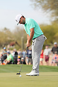 January 31st 2019, Scotsdale, Arizona, USA; Stephan Jaeger putts on the 9th green during the first round of the Waste Management Phoenix Open
