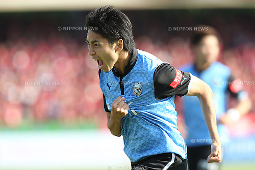 Yu Kobayashi (Frontale), <br /> MAY 10, 2014 - Football /Soccer : <br /> 2014 J.LEAGUE Division 1 <br /> between Kawasaki Frontale 4-1 Kashima Antlers <br /> at Kawasaki Todoroki Stadium, Kanagawa, Japan. <br /> (Photo by AFLO SPORT) [1205]