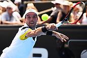 10th January 2018, ASB Tennis Centre, Auckland, New Zealand; ASB Classic, ATP Mens Tennis;  Roberto Bautista Agut (ESP) during the ASB Classic ATP Men's Tournament Day 3