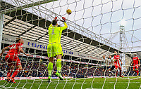 Nottingham Forest's Costel Pantilimon makes a save in the second half<br /> <br /> Photographer Alex Dodd/CameraSport<br /> <br /> The EFL Sky Bet Championship - Preston North End v Nottingham Forest - Saturday 16th February 2019 - Deepdale Stadium - Preston<br /> <br /> World Copyright © 2019 CameraSport. All rights reserved. 43 Linden Ave. Countesthorpe. Leicester. England. LE8 5PG - Tel: +44 (0) 116 277 4147 - admin@camerasport.com - www.camerasport.com