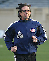 New England Revolution assistant coach Paul Mariner before his team's 2005 MLS match against the San Jose Earthquakes and New England Revolution on April 2, 2005 at Spartan Stadium in San Jose, California.  The game ended in a 2-2 tie.
