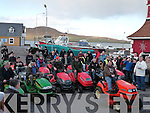 CHECK DATE.RACE WINNER: Alan Egan pictured here on his winning lawnmower at the 3rd annual sit up lawnmower race in Valentia Island on Sunday last.