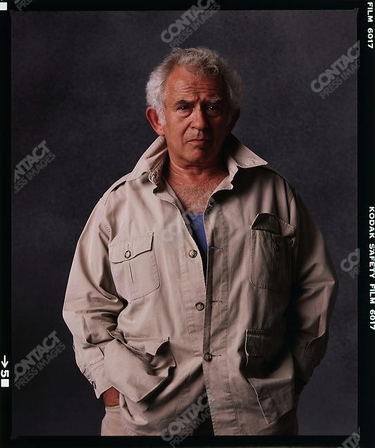 Norman Mailer, American author, 1986.
