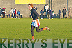 Duagh's Declan Griffin heads for the dressing room after being sent off for a high tackle in the Semi Final of the North Kerry Championship in Ballybunion on Sunday.