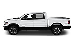 Car driver side profile view of a 2019 Ram 1500 Rebel 4 Door Pick Up