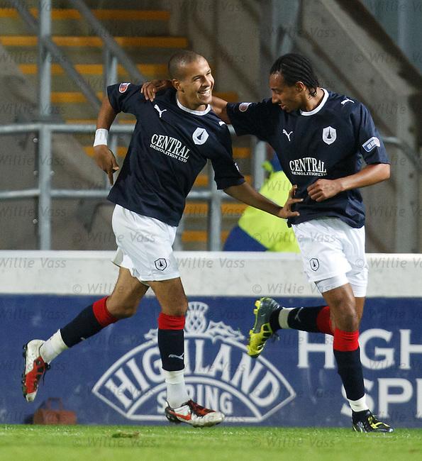 Farid El Allagui celebrates with Rhys Bennett