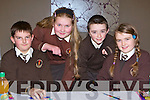 Lissivigeen NS pupils Michael Shanahan, Natasha Aleksejenko, Rory Aherne and Niamh Clifford at the Credit Union quiz in the Malton Hotel Killarney on Sunday