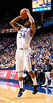 Senior Julius Mays shoots a three pointer from the corner during the second half of the Men's Basketball game vs. Samford at the Rupp Arena in Lexington, Ky., on Tuesday, December 4th, 2012..